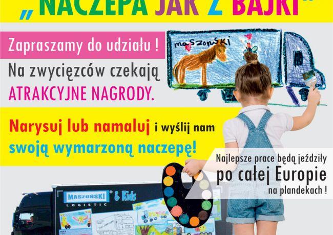 """Konkurs plastyczny pt. """"Naczepa jak z bajki""""."""