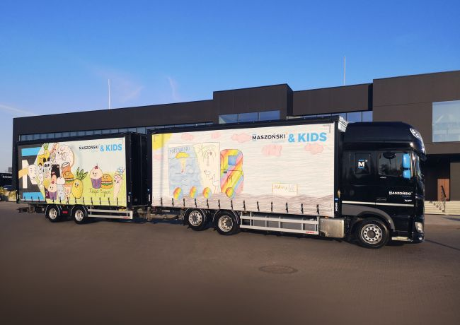 Young artists take over the truck tarpaulin design at Maszoński Logistic