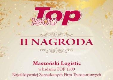 MASZOŃSKI-LOGISTIC laureatem Najefektywniej Zarządzanych Firm Transportowych w kategorii Duża Polska Firma Transportowa Roku.